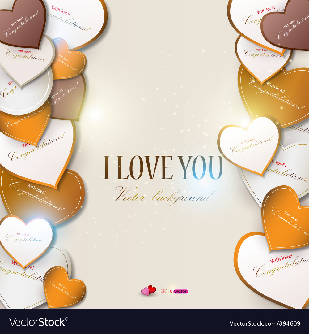 Hearts valentines day vector | Price: 1 Credit (USD $1)