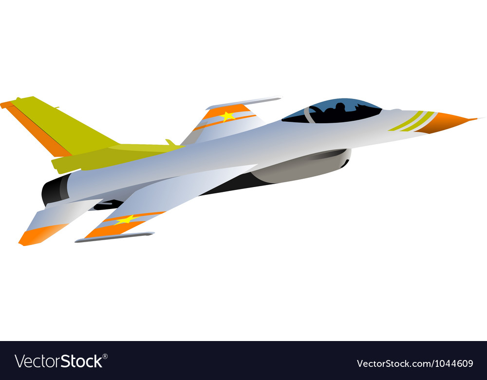 Jet fighter plane vector | Price: 1 Credit (USD $1)