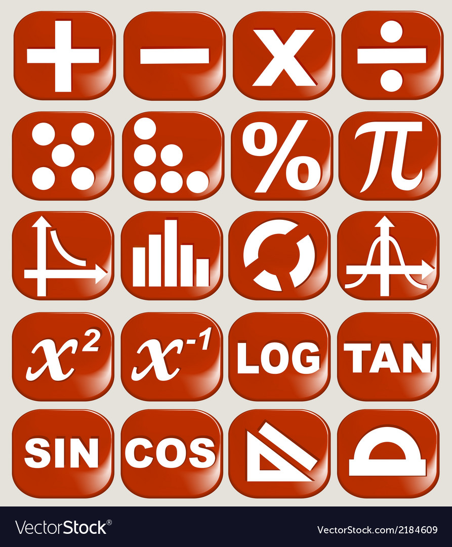 Math related symbols vector | Price: 1 Credit (USD $1)