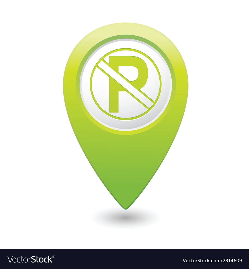 No parking icon on green pointer vector | Price: 1 Credit (USD $1)