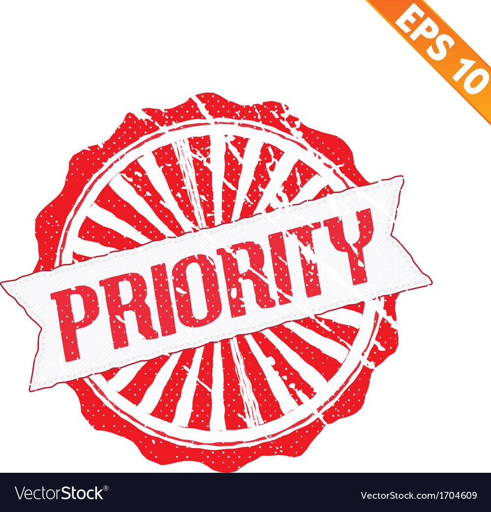 Rubber stamp high priority - - eps10 vector | Price: 1 Credit (USD $1)