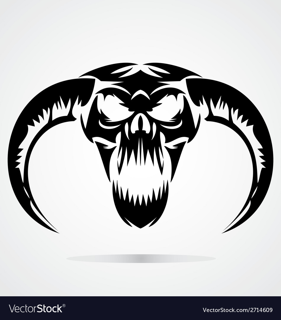 Scary demon skulls vector | Price: 1 Credit (USD $1)