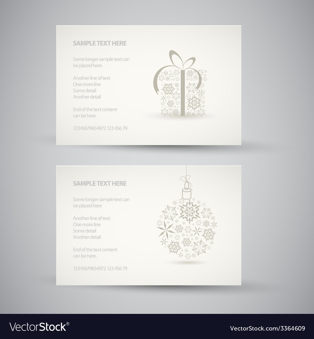 Set of christmas new year banners vector | Price: 1 Credit (USD $1)