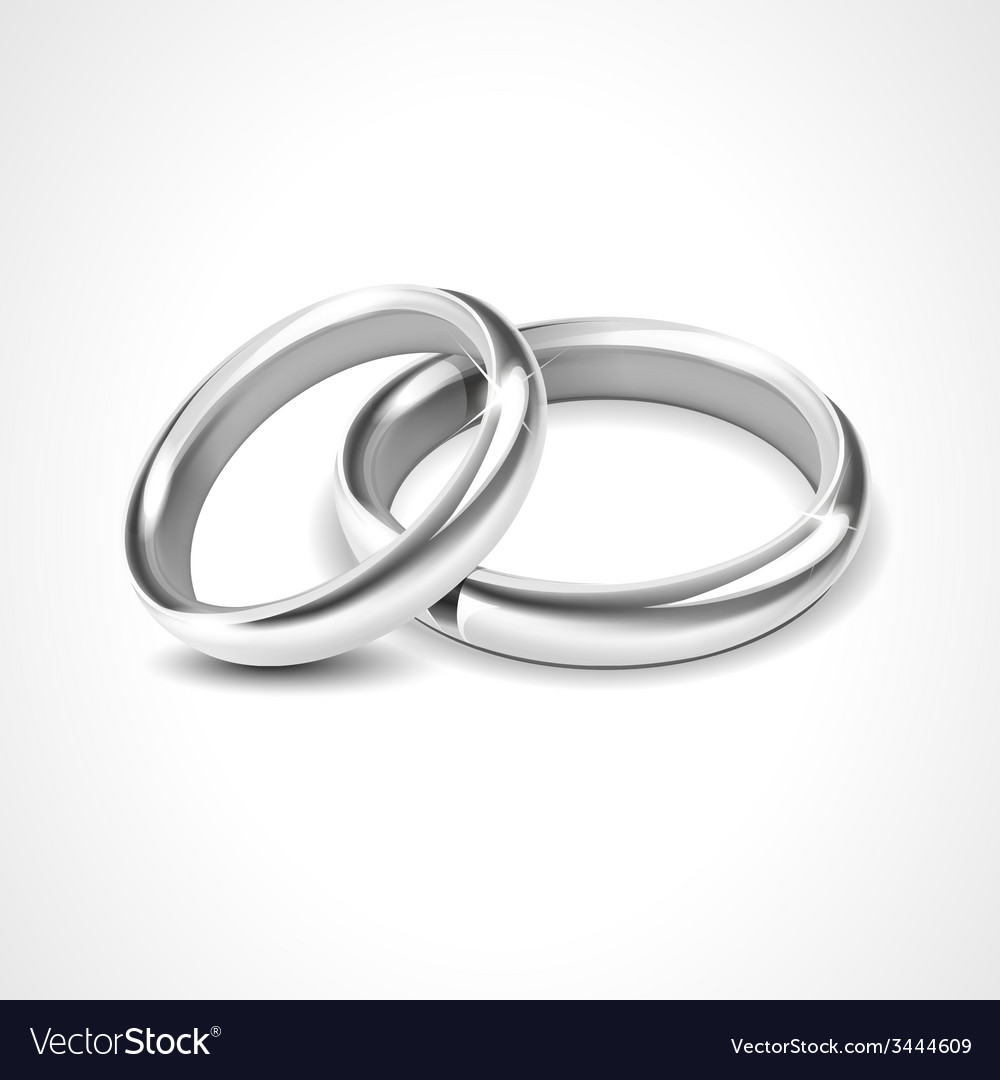 Silver rings isolated on white background vector | Price: 1 Credit (USD $1)