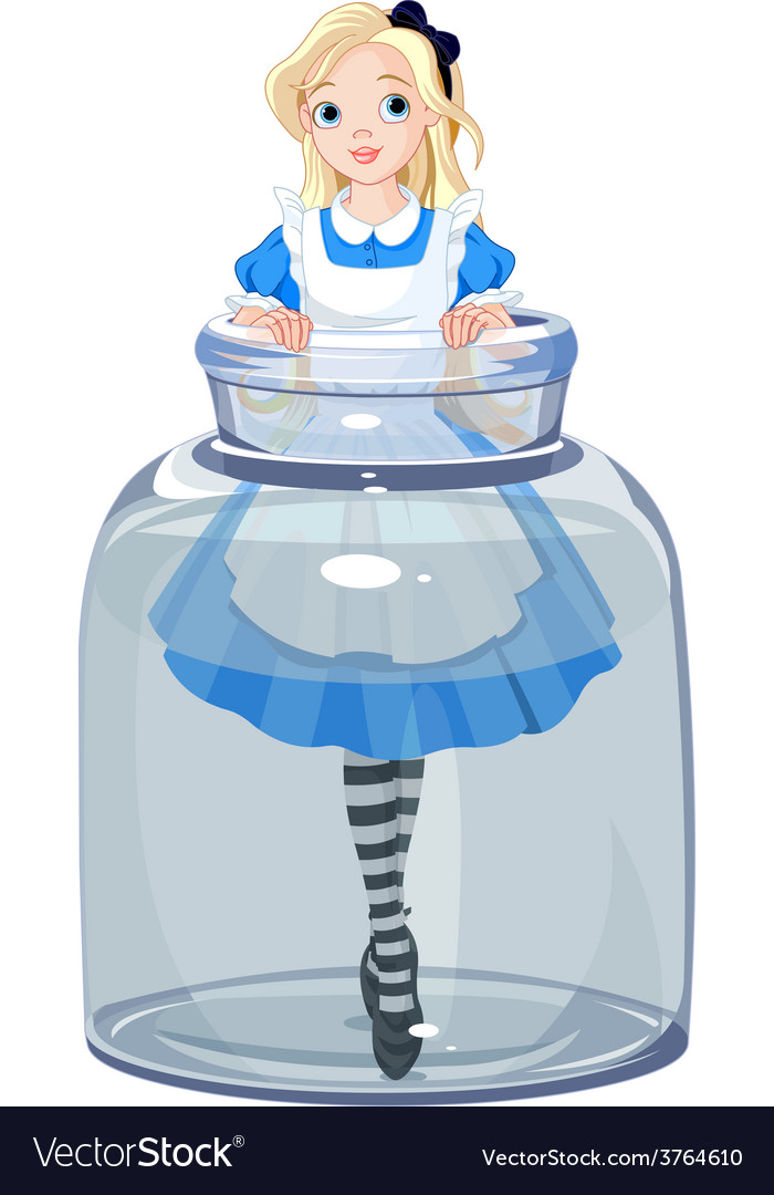Alice in the jar vector | Price: 1 Credit (USD $1)