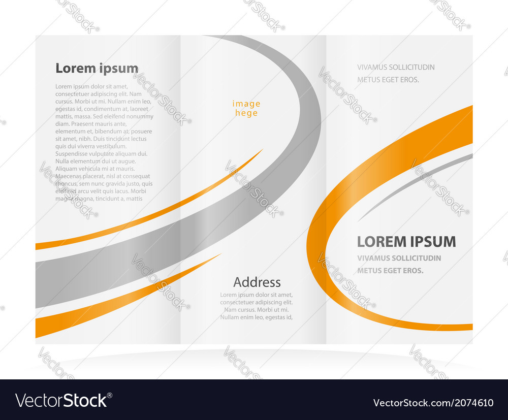 Brochure design template vector | Price: 1 Credit (USD $1)