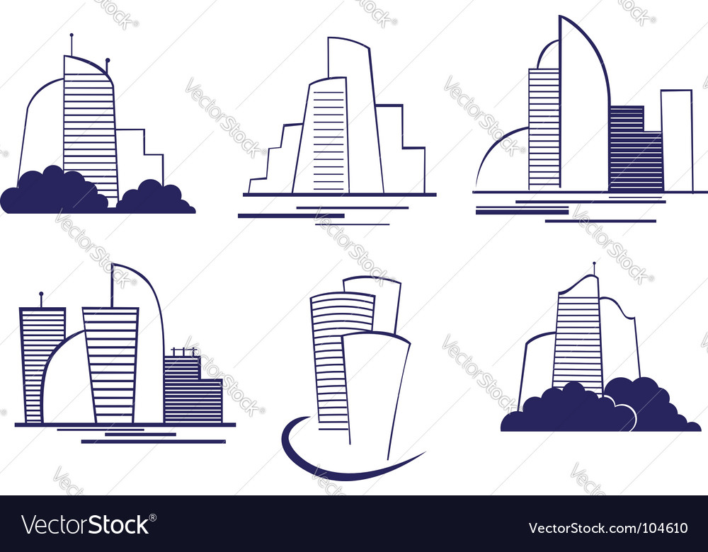 Buildings symbols vector | Price: 1 Credit (USD $1)