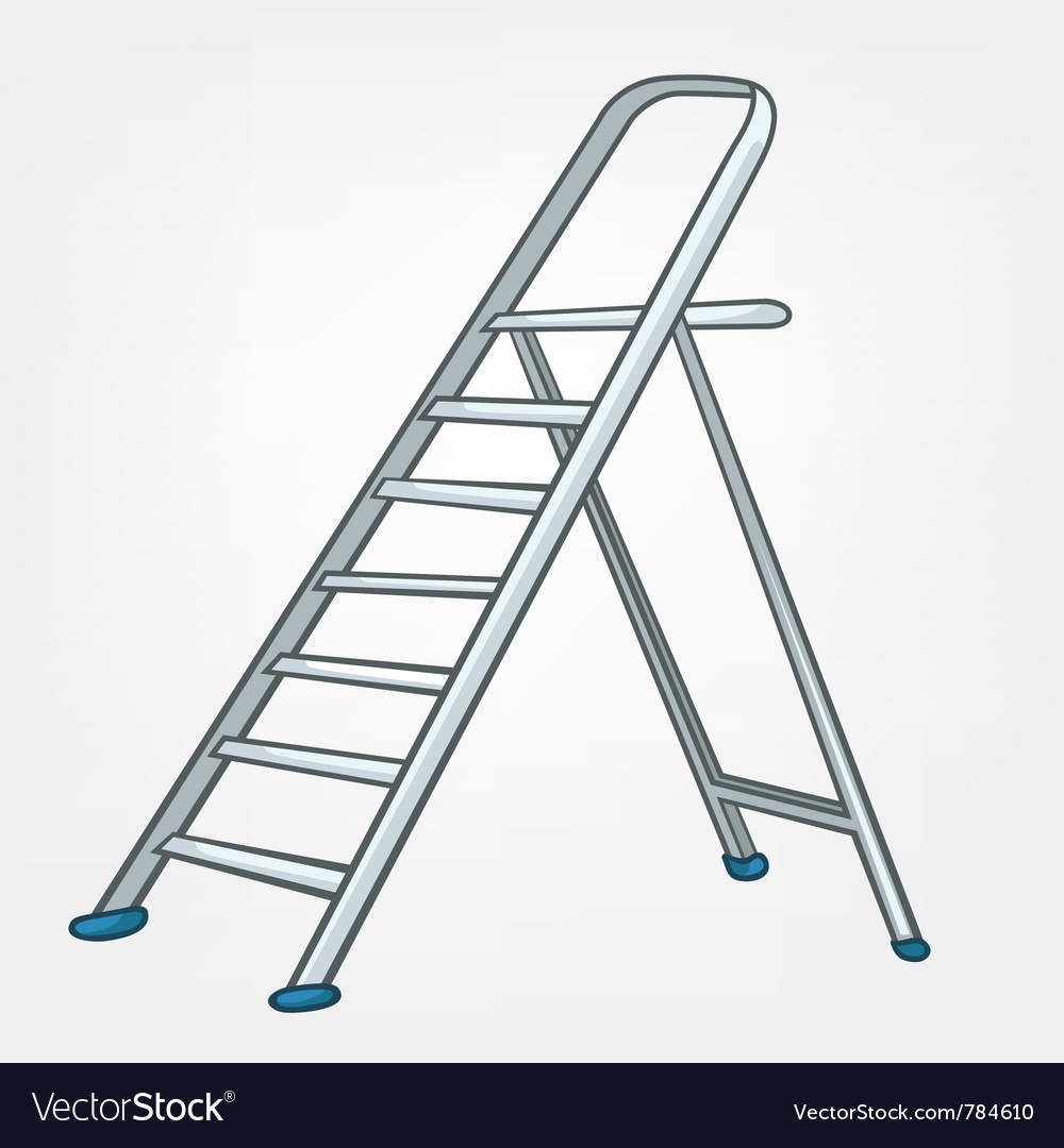 Cartoon home ladder vector | Price: 1 Credit (USD $1)