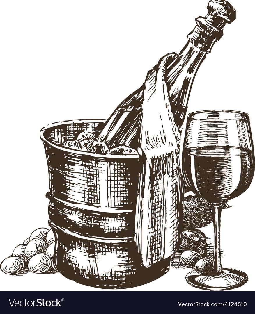 Champagne logo design template alcoholic vector | Price: 3 Credit (USD $3)