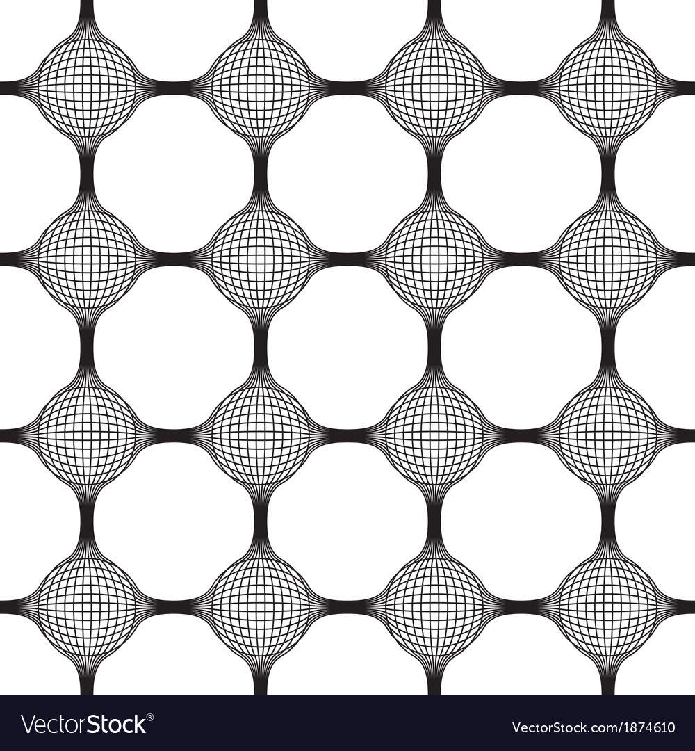Connected sphere globes seamless pattern vector | Price: 1 Credit (USD $1)