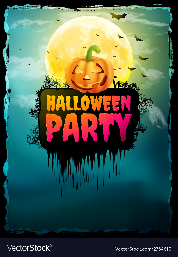 Happy halloween party poster eps 10 vector | Price: 1 Credit (USD $1)