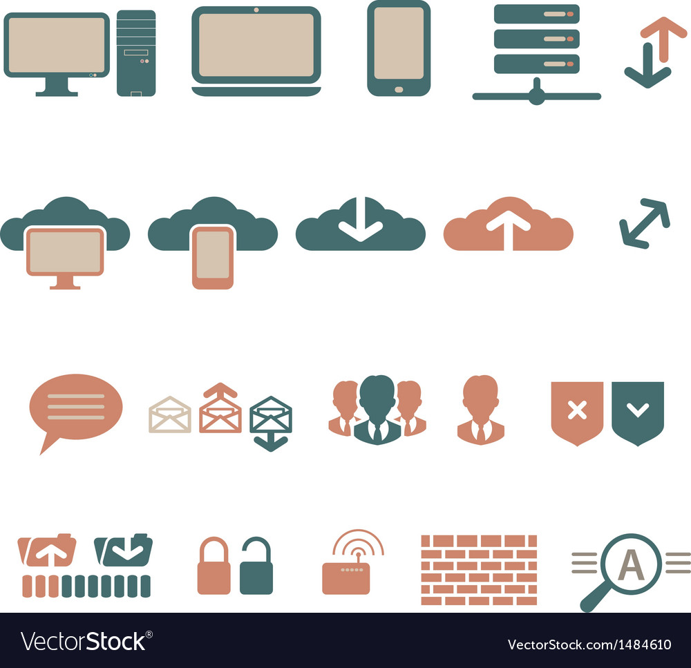 It-bisiness and digital communication icons vector   Price: 1 Credit (USD $1)