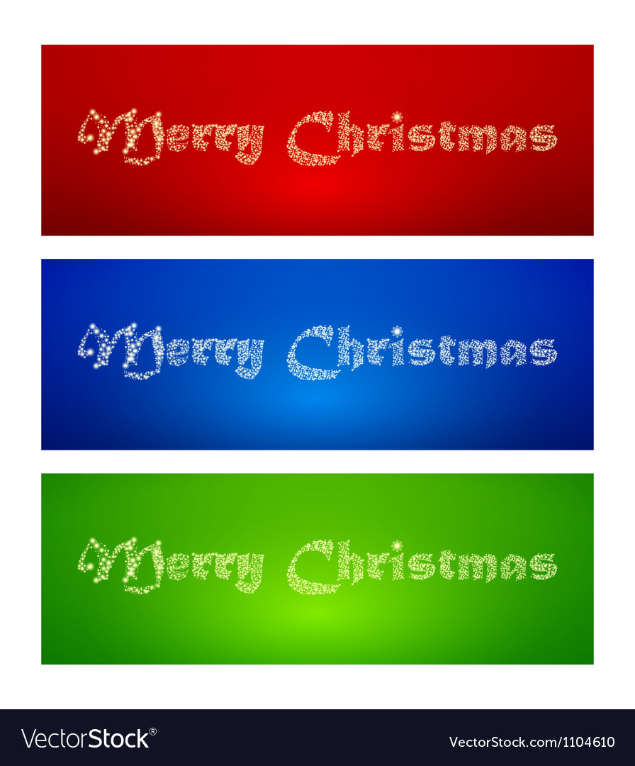 Marry christmas banners vector | Price: 1 Credit (USD $1)
