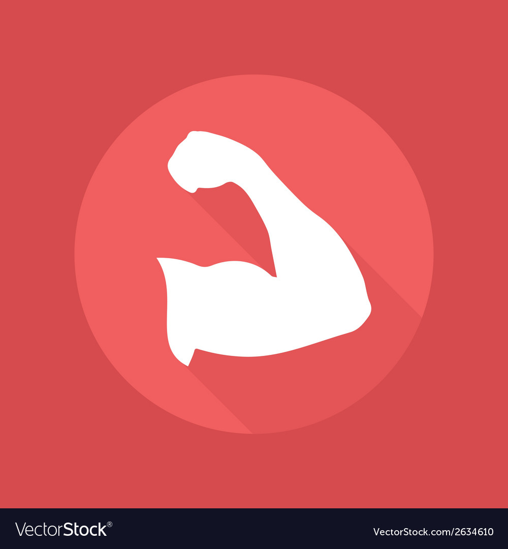Muscle icon vector