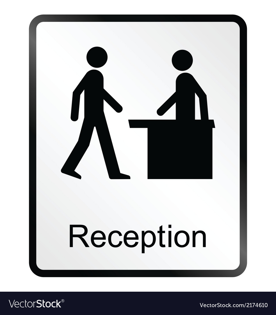 Reception information sign vector | Price: 1 Credit (USD $1)