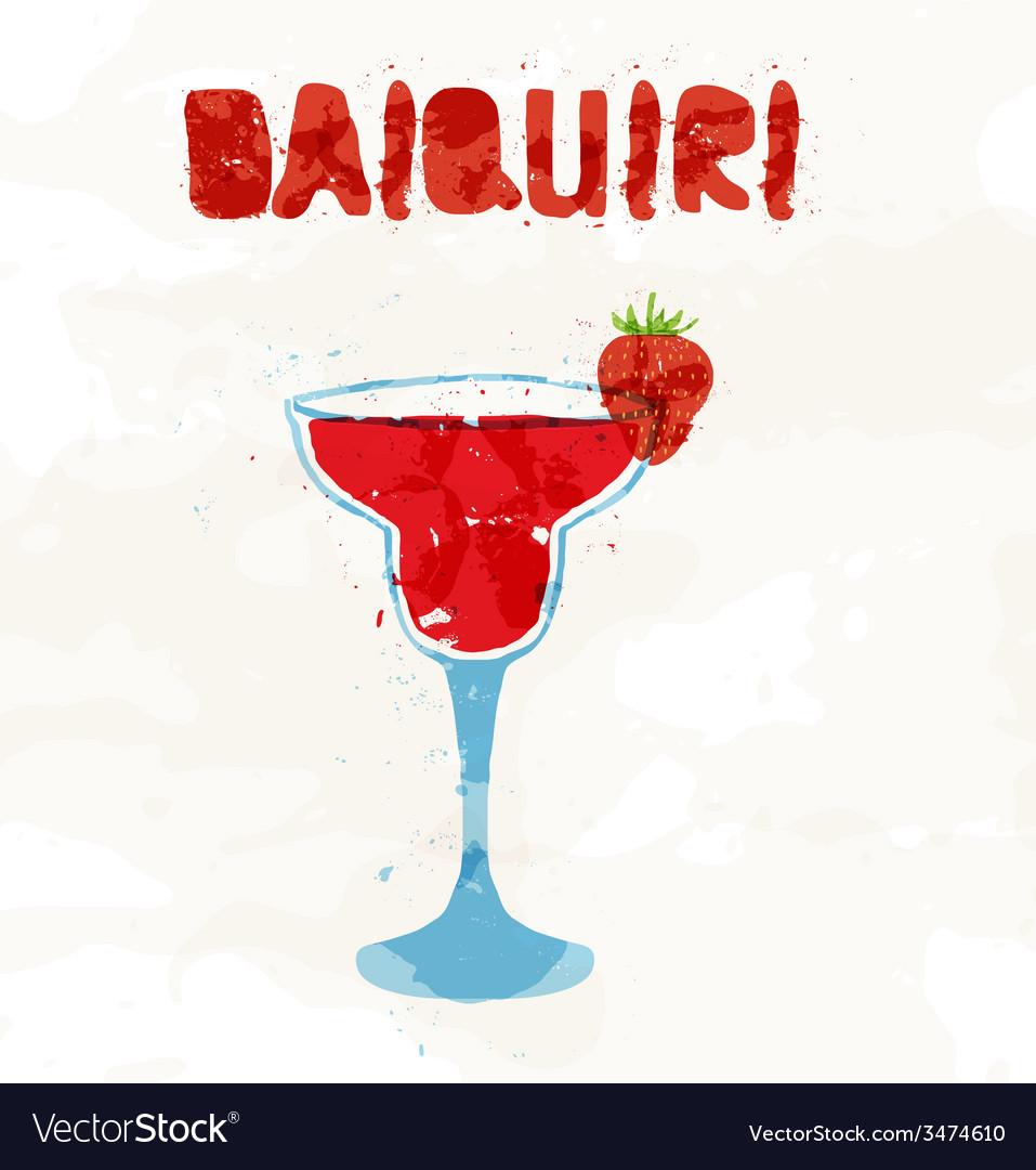Strawberry daiquiri vector | Price: 1 Credit (USD $1)