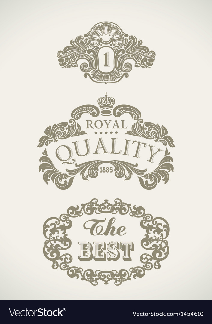 Victorian styled labels vector | Price: 1 Credit (USD $1)