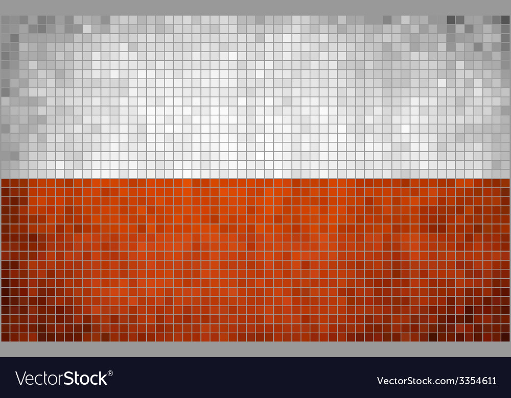 Abstract mosaic flag of poland vector | Price: 1 Credit (USD $1)