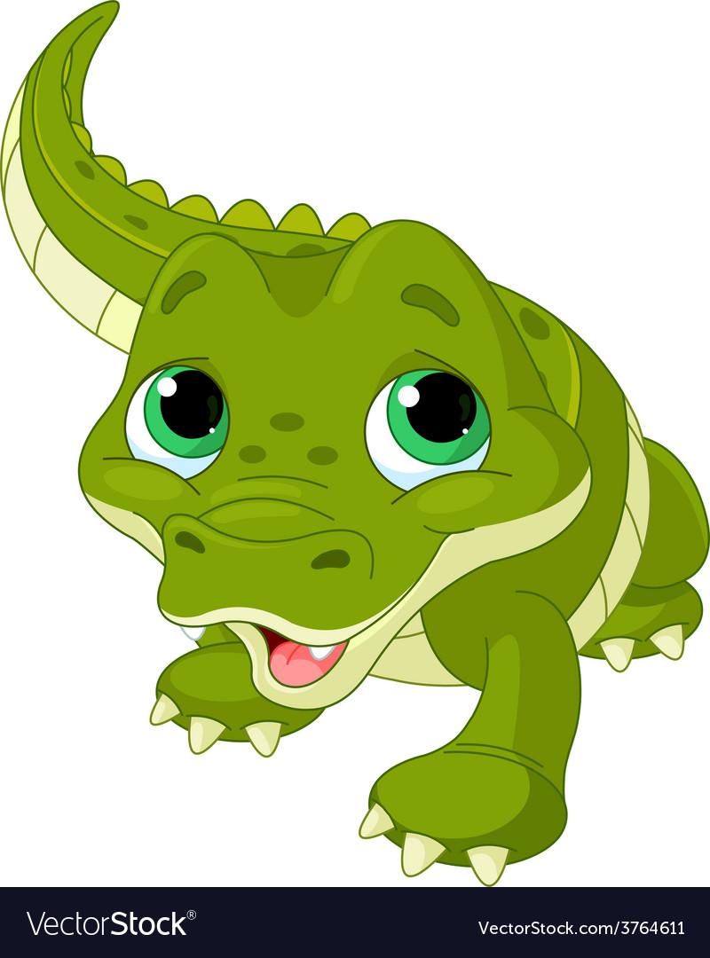 Baby alligator vector | Price: 1 Credit (USD $1)