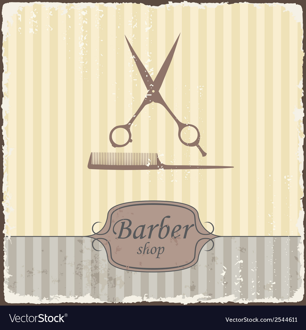 Barber shop vintage retro typography vector | Price: 1 Credit (USD $1)