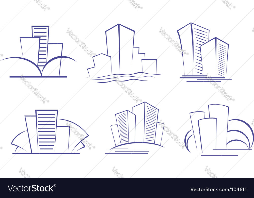 Business buildings designs vector | Price: 1 Credit (USD $1)