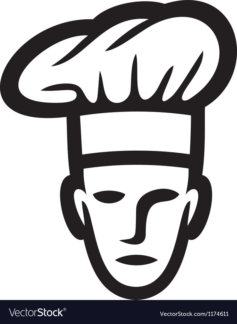 Chef face-chef head vector | Price: 1 Credit (USD $1)