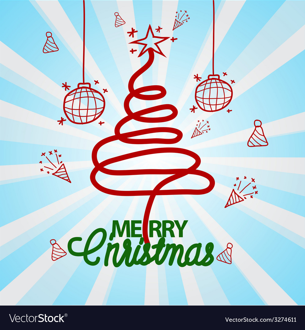Christmas doodle hand drawn vector | Price: 1 Credit (USD $1)