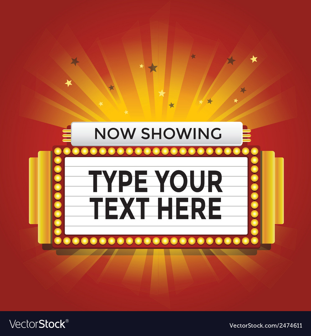 Now showing retro cinema neon sign vector | Price: 1 Credit (USD $1)