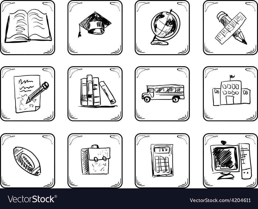 School icons vector   Price: 1 Credit (USD $1)