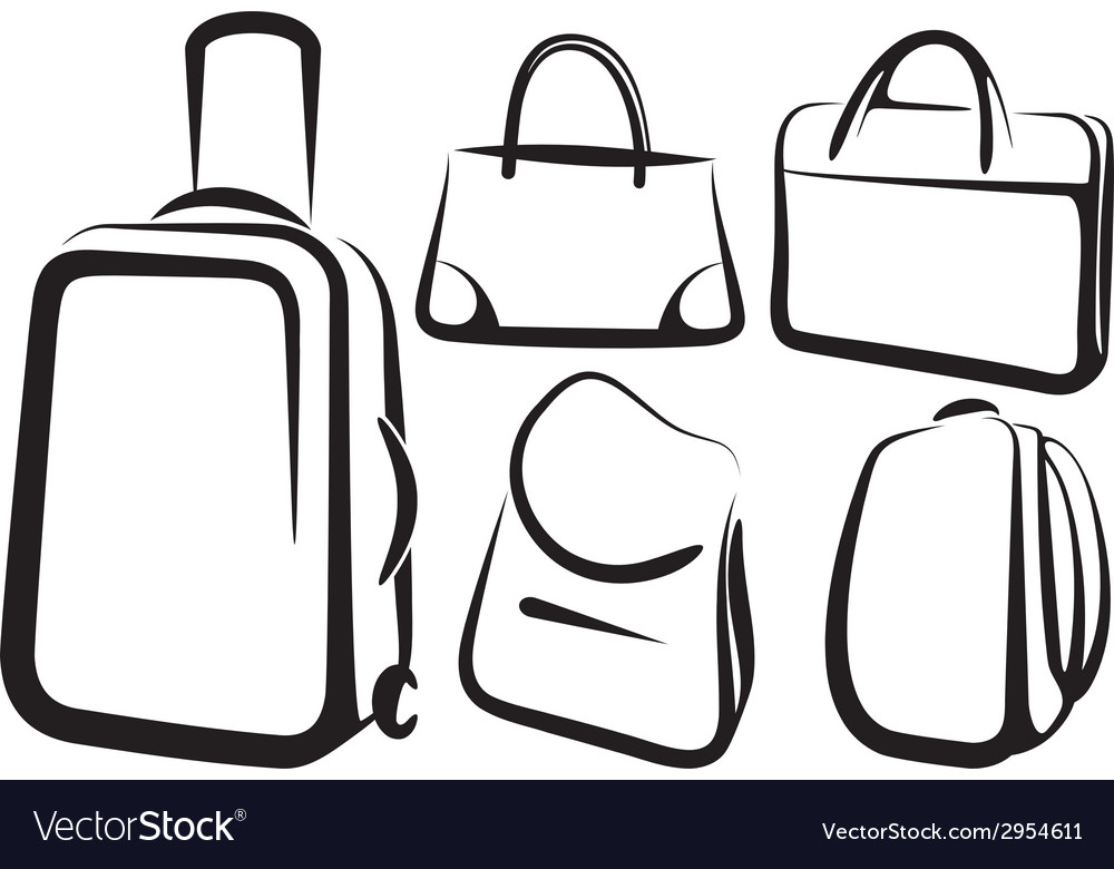 Set of bag icons vector | Price: 1 Credit (USD $1)