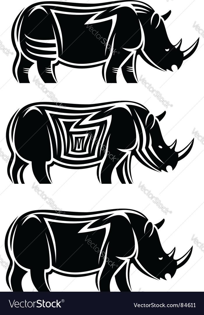 Wild rhinoceros vector | Price: 1 Credit (USD $1)