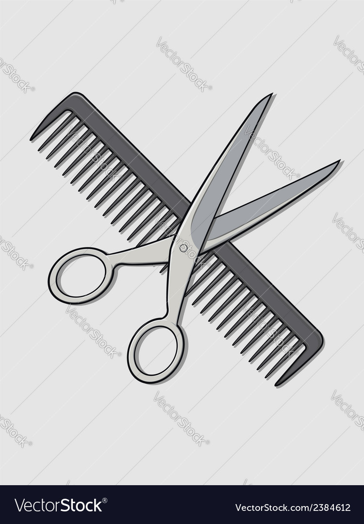Barber scissor and comb vector | Price: 1 Credit (USD $1)