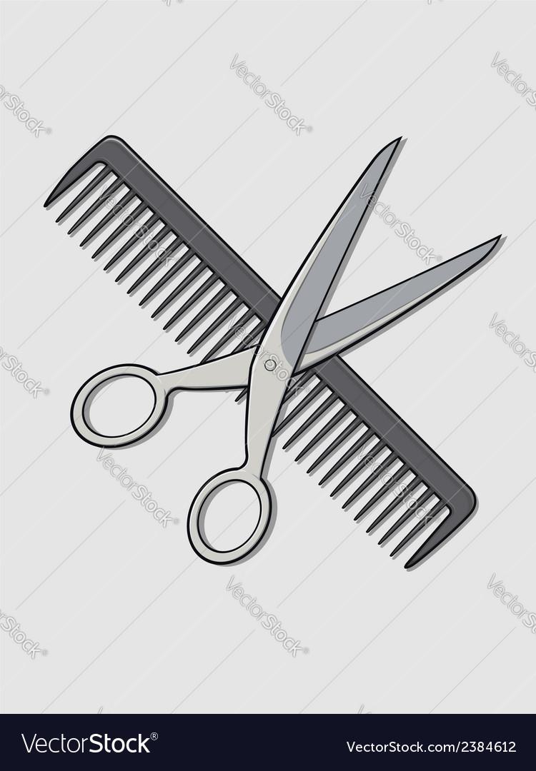 Barber scissor and comb vector   Price: 1 Credit (USD $1)