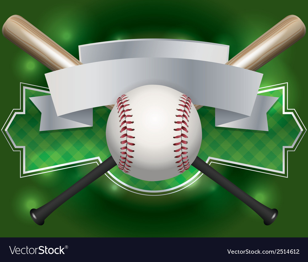Baseball bat label vector | Price: 1 Credit (USD $1)