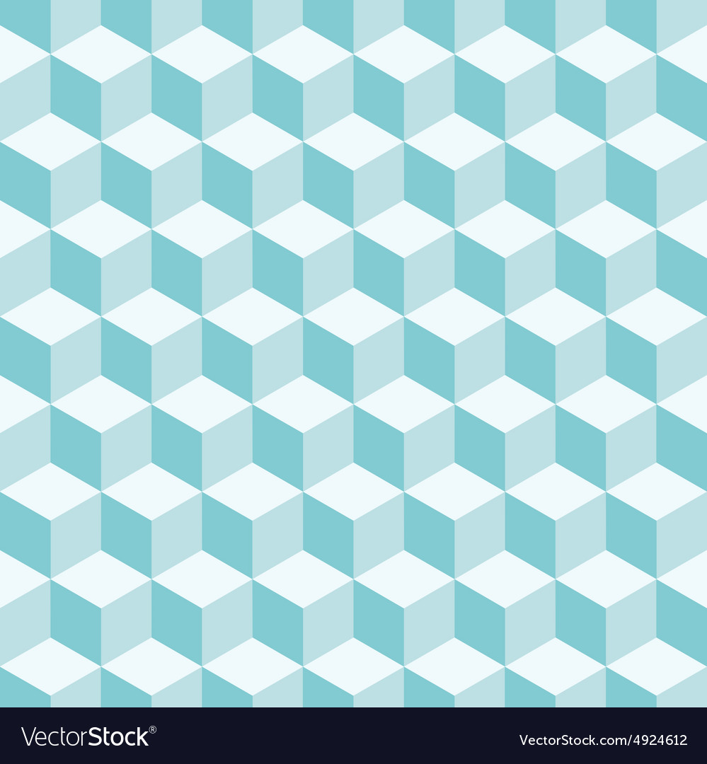 Cube 3d pattern background vector