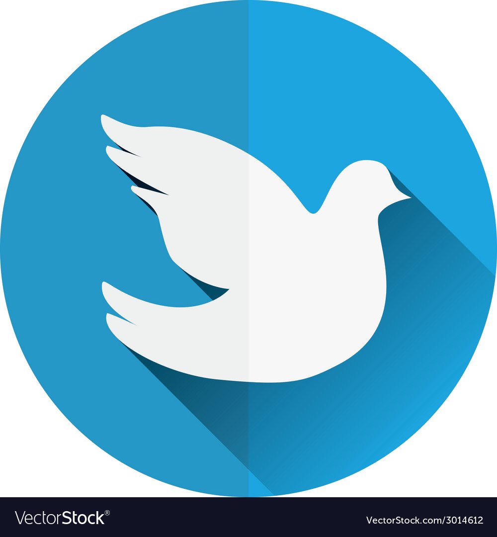 Dove flat icon vector | Price: 1 Credit (USD $1)