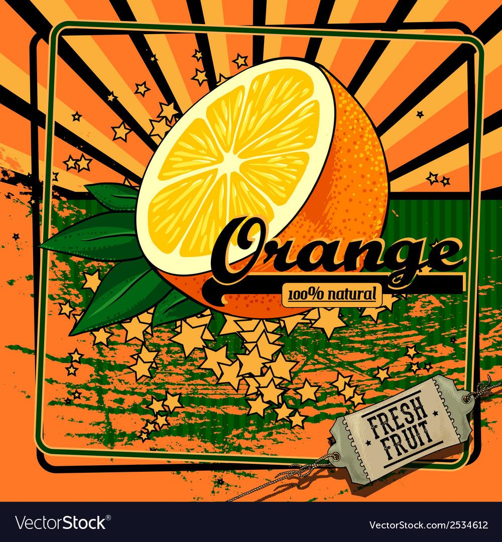 Fruit label vector | Price: 1 Credit (USD $1)