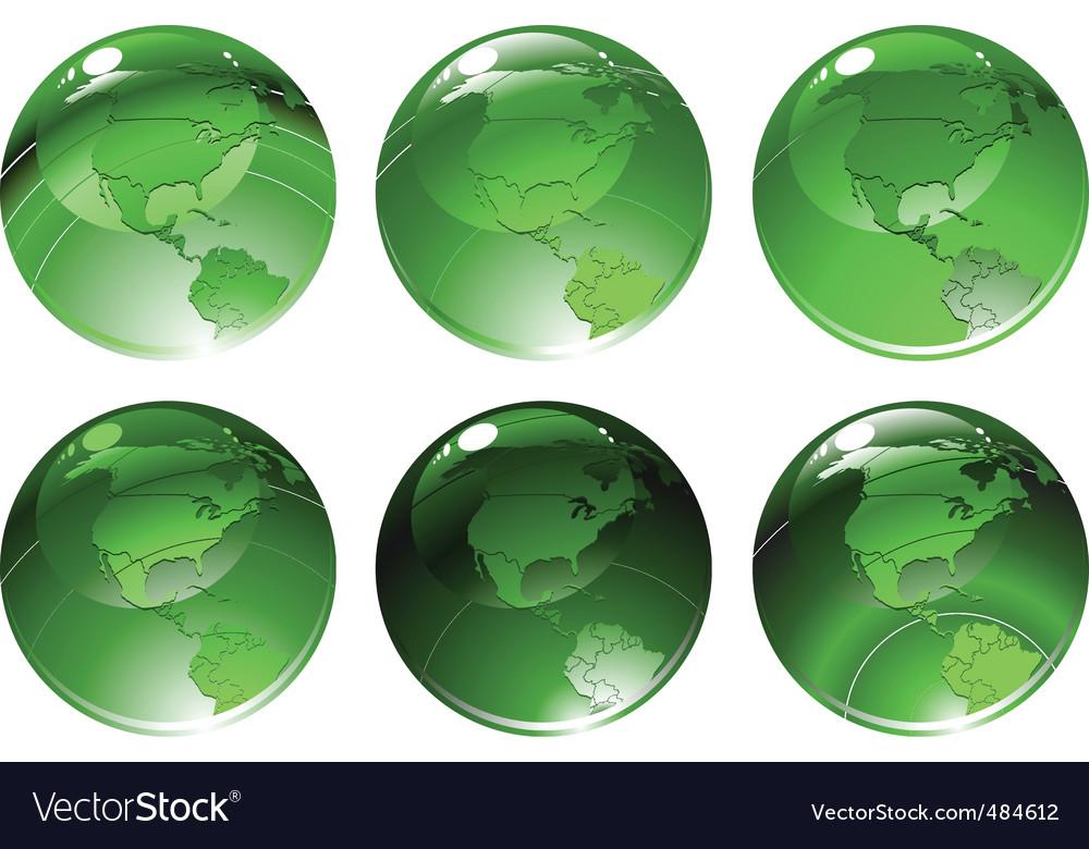 Globe icons vector | Price: 1 Credit (USD $1)