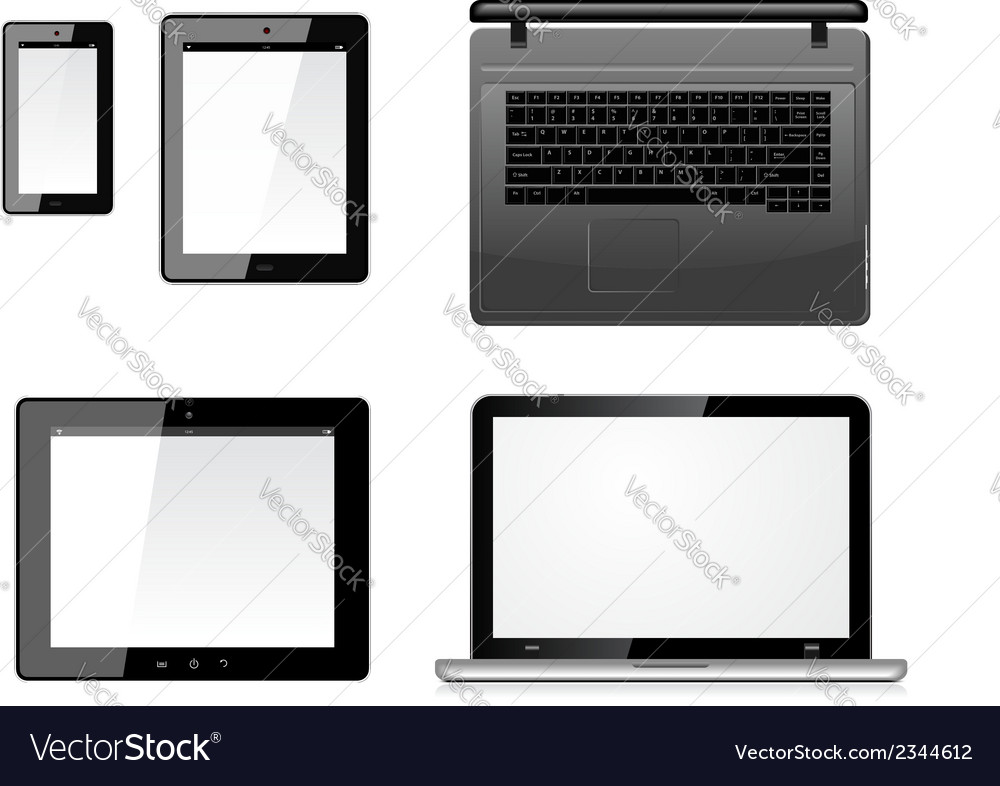 Laptop tablet pc computer and mobile smartphone vector | Price: 1 Credit (USD $1)