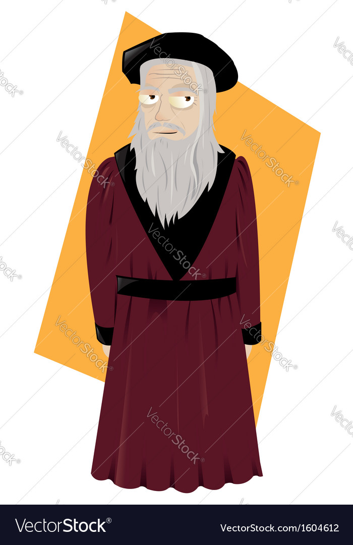 Leonardo da vinci vector | Price: 1 Credit (USD $1)
