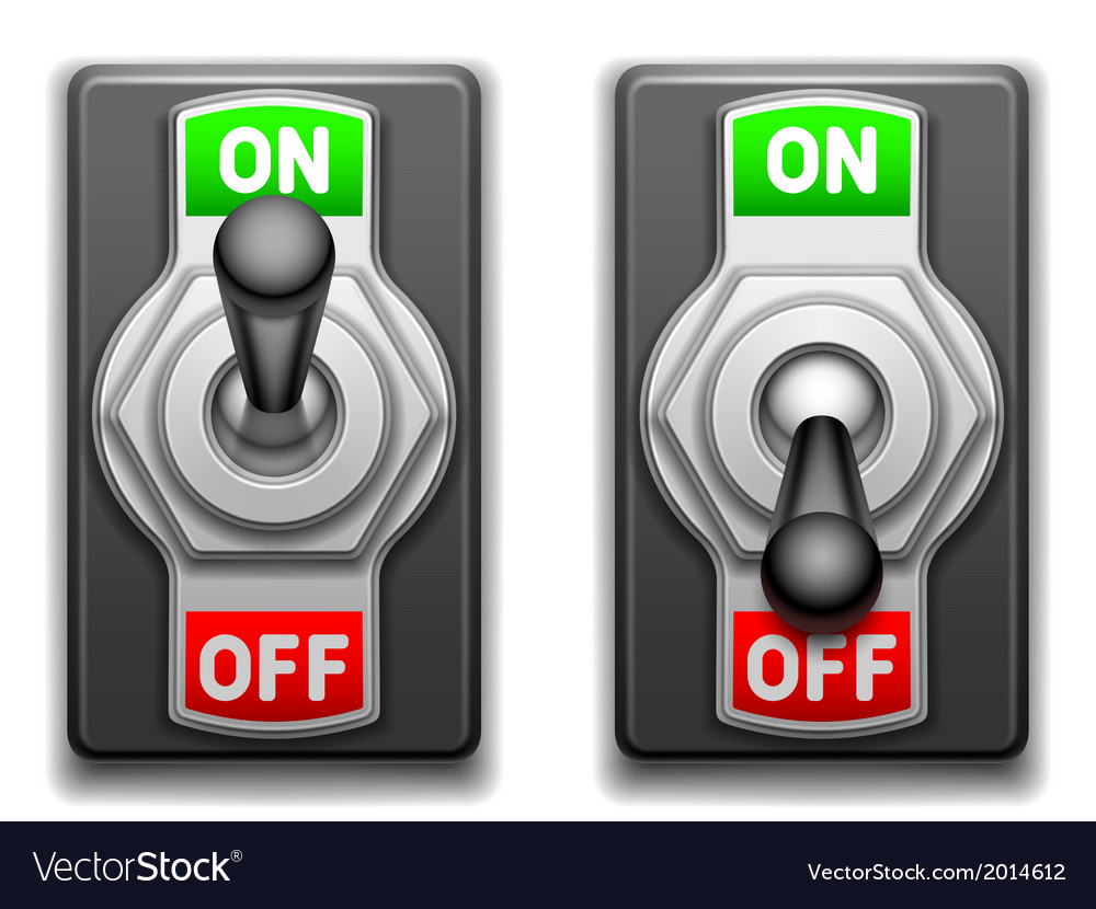 On and off switches vector | Price: 1 Credit (USD $1)