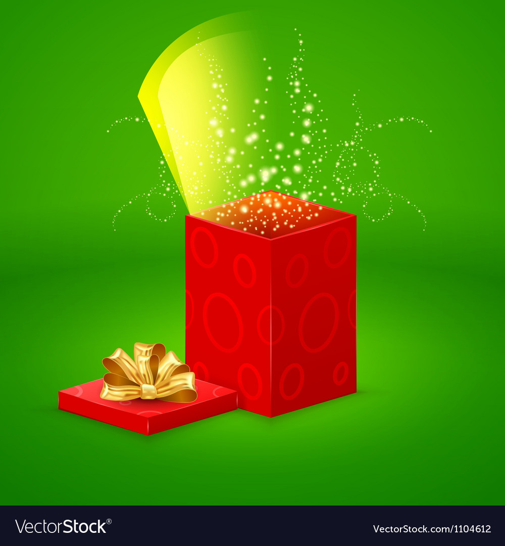 Open magic gift box vector | Price: 1 Credit (USD $1)