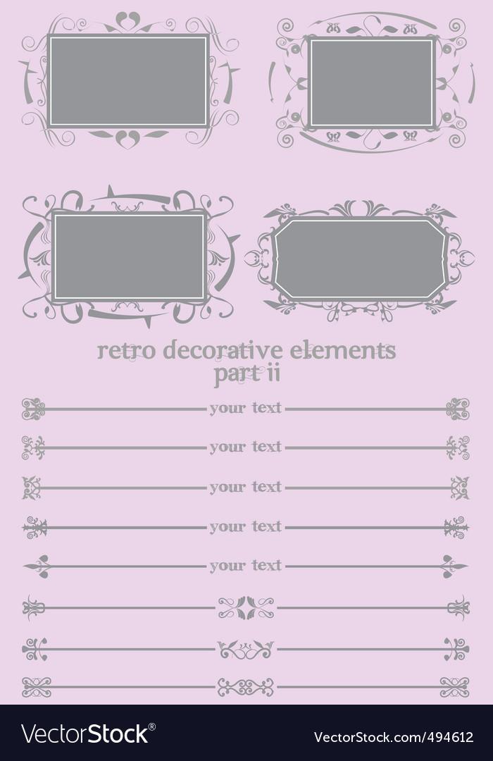 Retro decorative elements ii vector   Price: 1 Credit (USD $1)