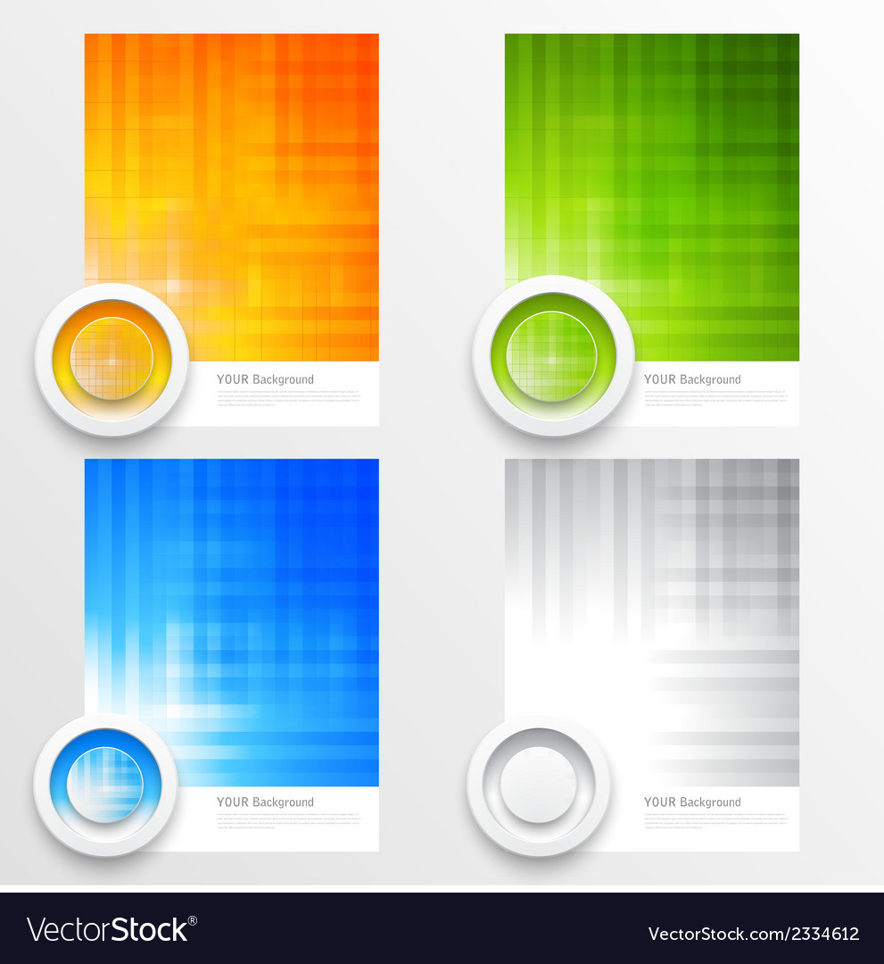 Set of modern banners with lines vector | Price: 1 Credit (USD $1)