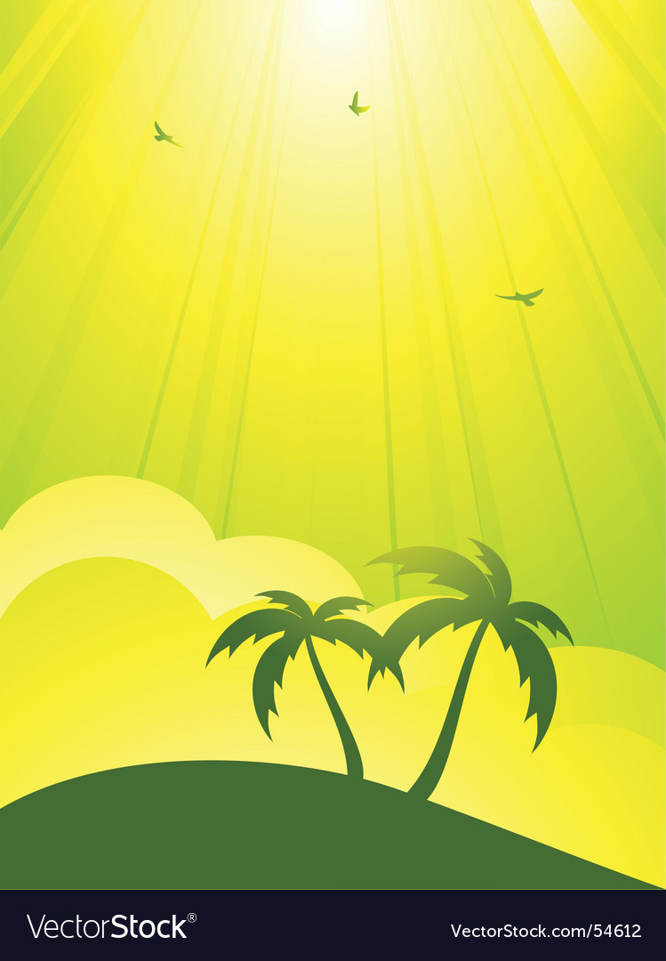 Tropical paradise vector | Price: 1 Credit (USD $1)