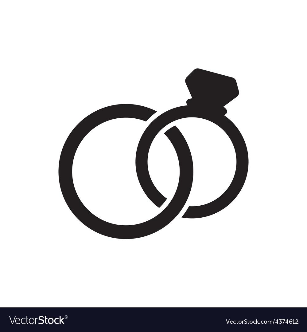 Wedding rings icon vector   Price: 1 Credit (USD $1)