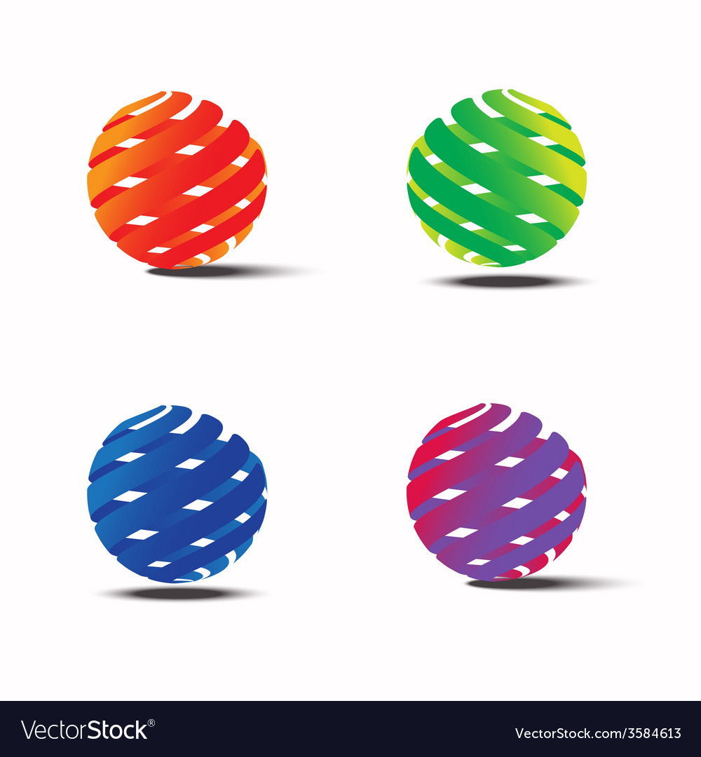 Abstract colorful circle logo template vector | Price: 1 Credit (USD $1)