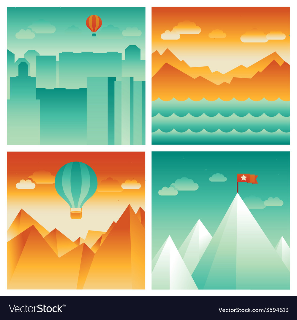 Abstract landscapes vector