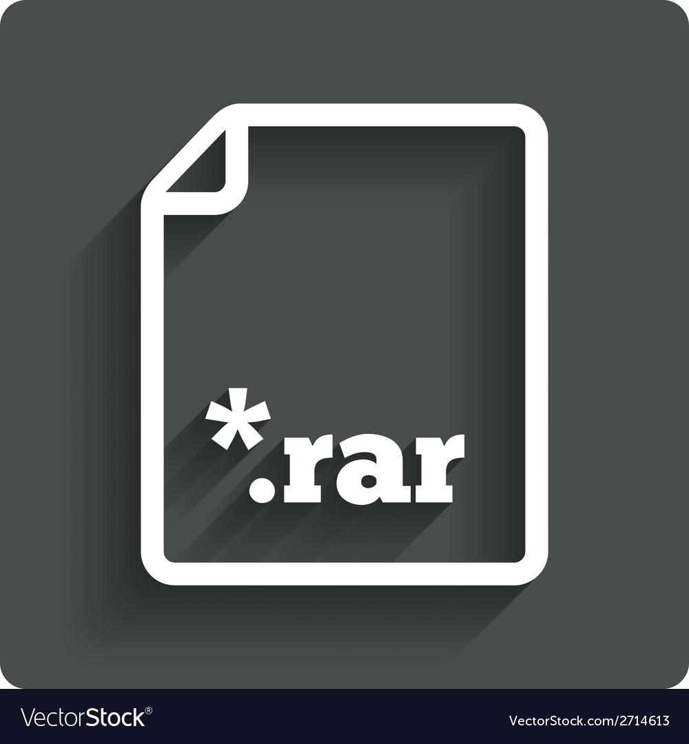 Archive file icon download rar button vector | Price: 1 Credit (USD $1)