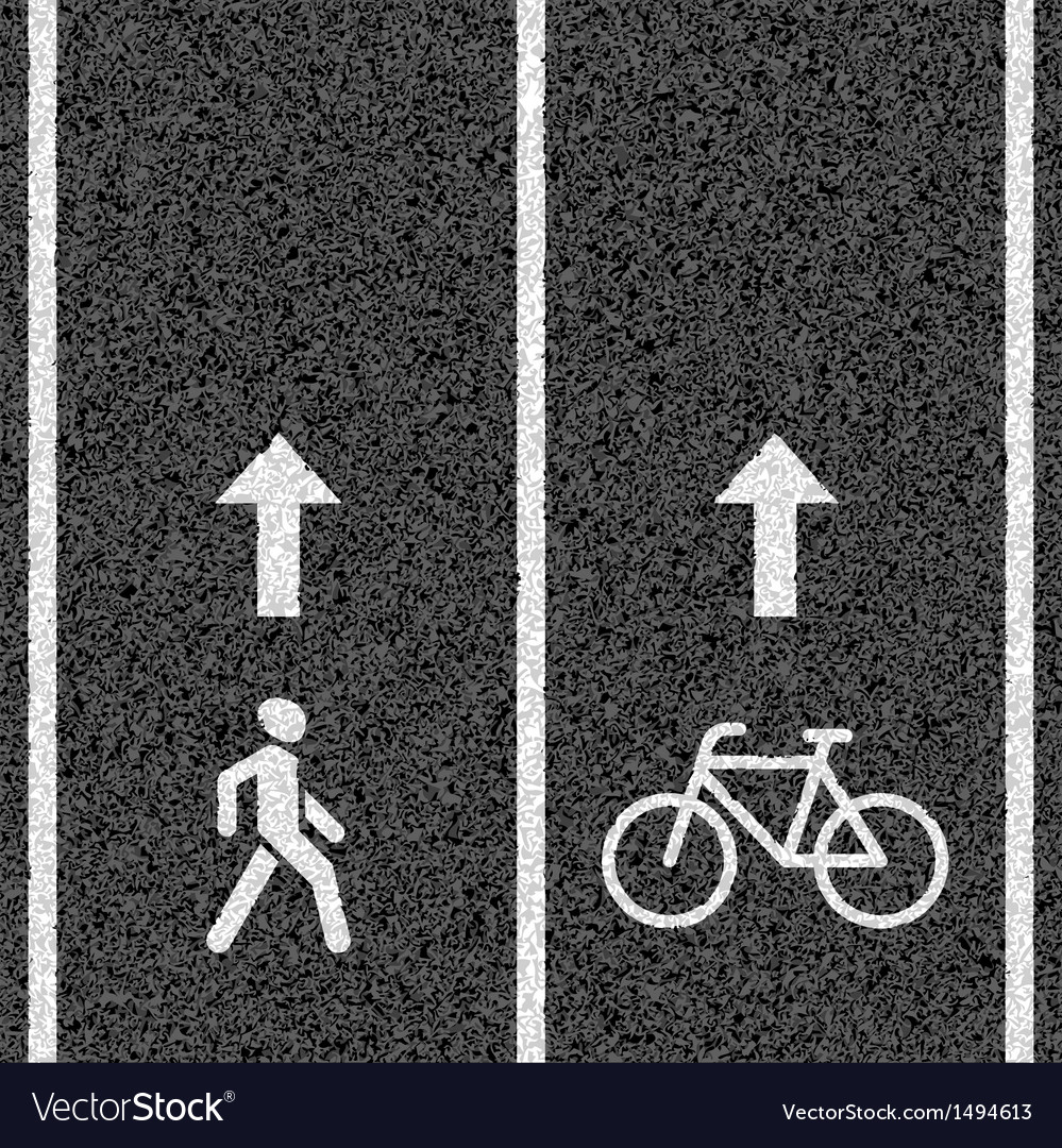 Bicycle and pedestrian paths vector | Price: 1 Credit (USD $1)